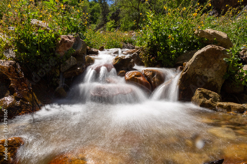 flowing Waterfall in a creek