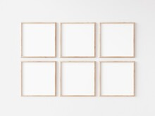 Six Square Thin Wooden Frame O...