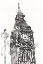 London Art Drawing Sketch Illu...