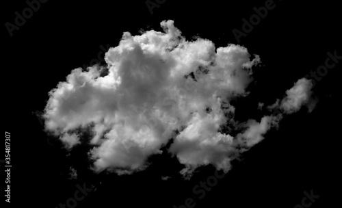 Obraz na plátně white cloud on black background. Dark tone.