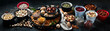 canvas print picture - Different types of nuts, seeds and dried fruits