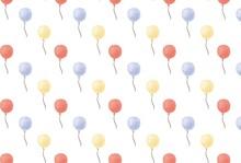 3色の風船の壁紙