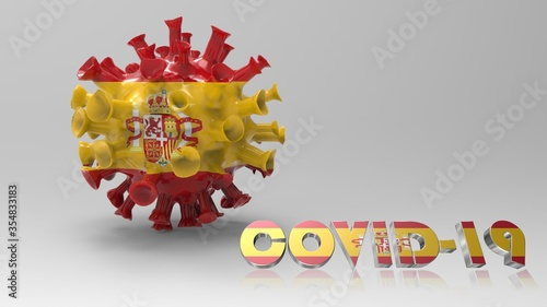 Photo coronavirus, covid19 disease photography spain