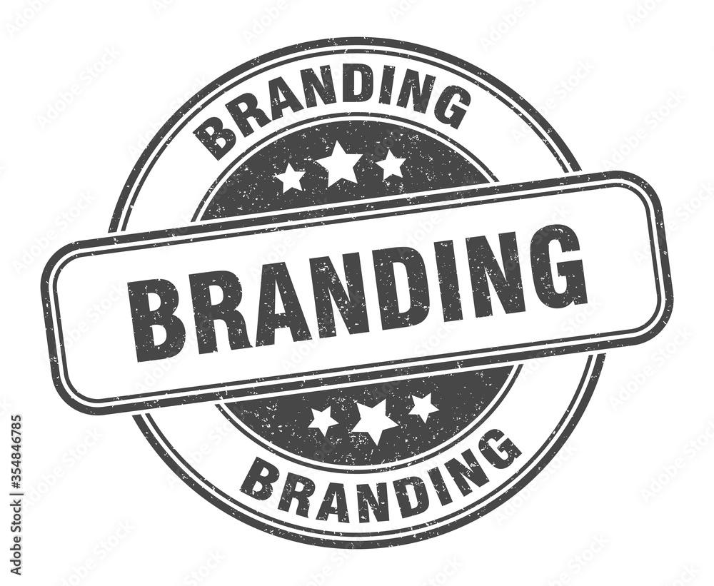 Fototapeta branding stamp. branding round grunge sign. label