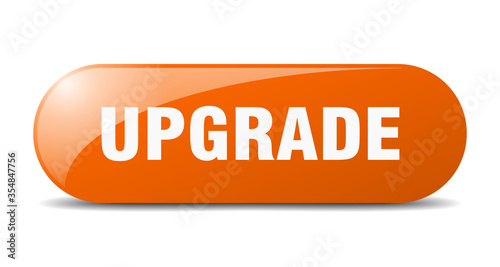 Fotografía upgrade button. upgrade sign. key. push button.