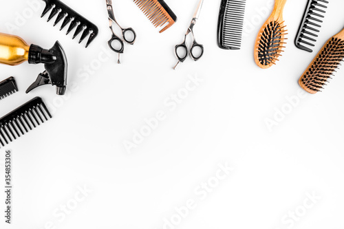 Hairdressing instruments Fototapet