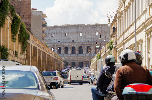 Fototapeta The Colosseum in Rome, Italy during summer sunny day