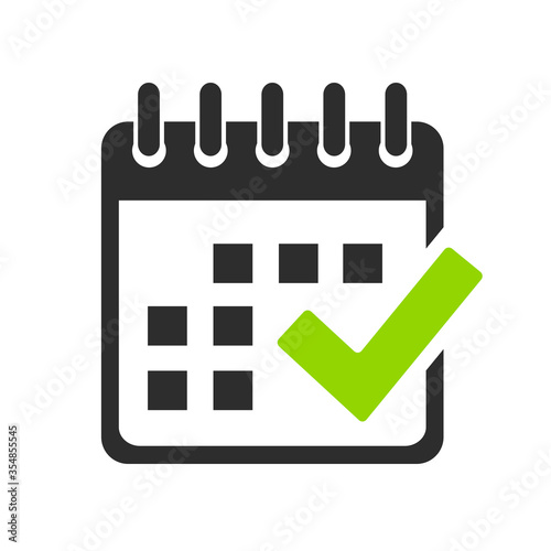 Tablou Canvas Calendar vector icon
