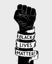 Protest Poster With Text BLM, ...