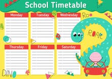 School Timetable For A Student...