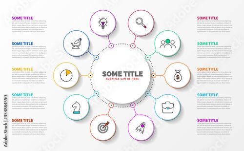 Fotografía Infographic design template. Creative concept with 10 steps