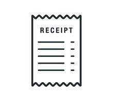 Receipt Icon. Vector Paper Rec...
