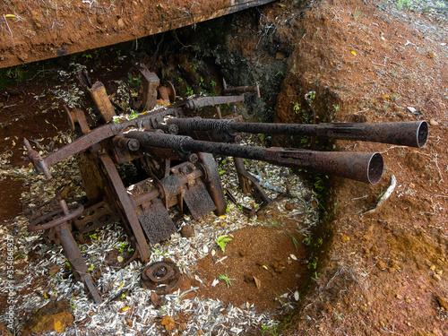 Photo Old japanese antiaircraft gun in Ngardmau, Palau