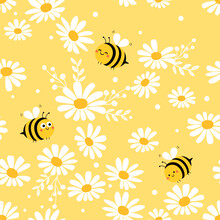 Daisy Seamless Pattern And Car...