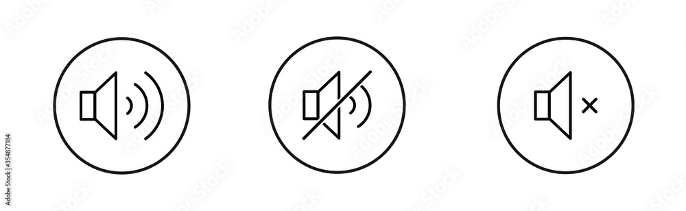 Fototapeta Sound   Speaker   Icon   Button