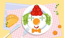 Cute Edible Clown On A Plate, ...