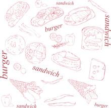 Print Illustration Sandwiches ...