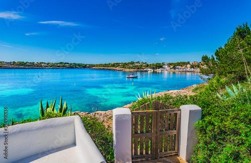 Beautiful seaside view of Portopetro on Majorca island, Spain, Mediterranean Sea, Balearic Islands, Mallorca