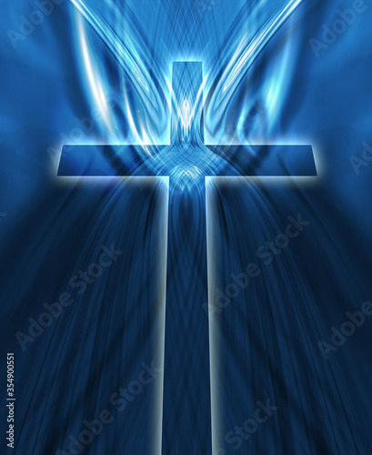 glowing cross Canvas Print