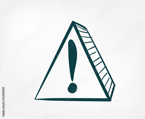 фотографія alarm attention doodle vector concept isolated sign symbol