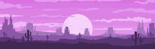 Vector Illustration Of Sunset ...