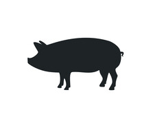 Pig Icon. Pork Icon. Pig Vecto...
