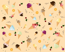 Wallpaper With Ice Cream In Th...