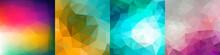 Set Of Colorful Geometric Back...
