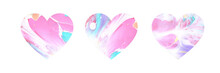 Abstract Colorful Hearts.  Ebr...