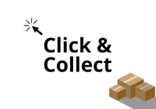 Click And Collect Vector. Onli...