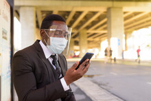 African Businessman With Mask ...