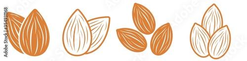 Tela Almond icon set