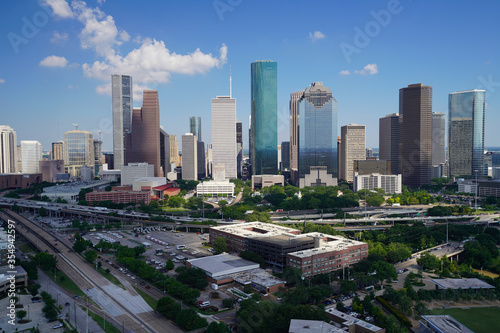 Tablou Canvas View of downtown Houston.