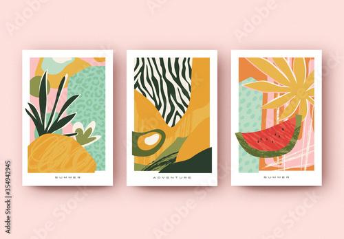 Obraz Summer Poster Layout Set - fototapety do salonu