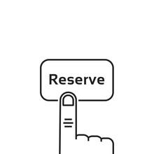 Minimal Black Thin Line Reserv...