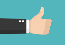 Thumbs Up And Down Vector Flat...