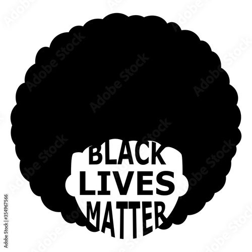 illustration of abstract black lives matter emblem Wallpaper Mural