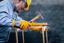 Worker Wearing Safety Equipmen...