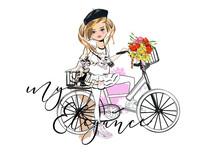 Sketch Of A Cute Fashion Girl ...
