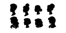 Woman Head Silhouette, Face Pr...