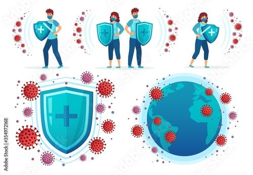 Obraz na plátně Protect from corona virus