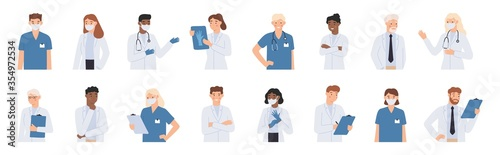 Hospital staff Canvas Print