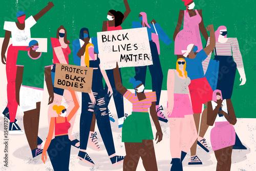 Fotografie, Obraz Crowd protest