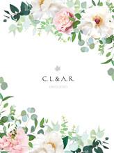 Elegant Floral Vector Card Wit...