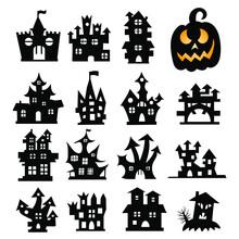 Set Of Halloween Icons. Hallow...