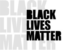 Black Lives Matter All Type  Typography Text Vector Bg Background