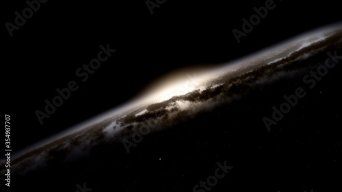 Obraz abstract cosmic background, planets in space, alien planet, exo planet, detailed planet surface 3d render - fototapety do salonu