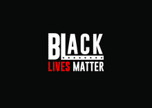 Black Lives Matter White Lette...