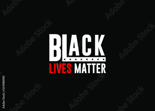 Vászonkép Black lives matter white letters on black background