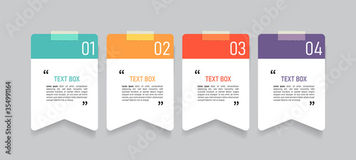 Valokuva Text box design with note papers.